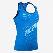Camiseta tirantes atletismo fem ALPHA front