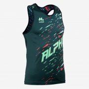 Camiseta tirantes atletismo masc ALPHA front